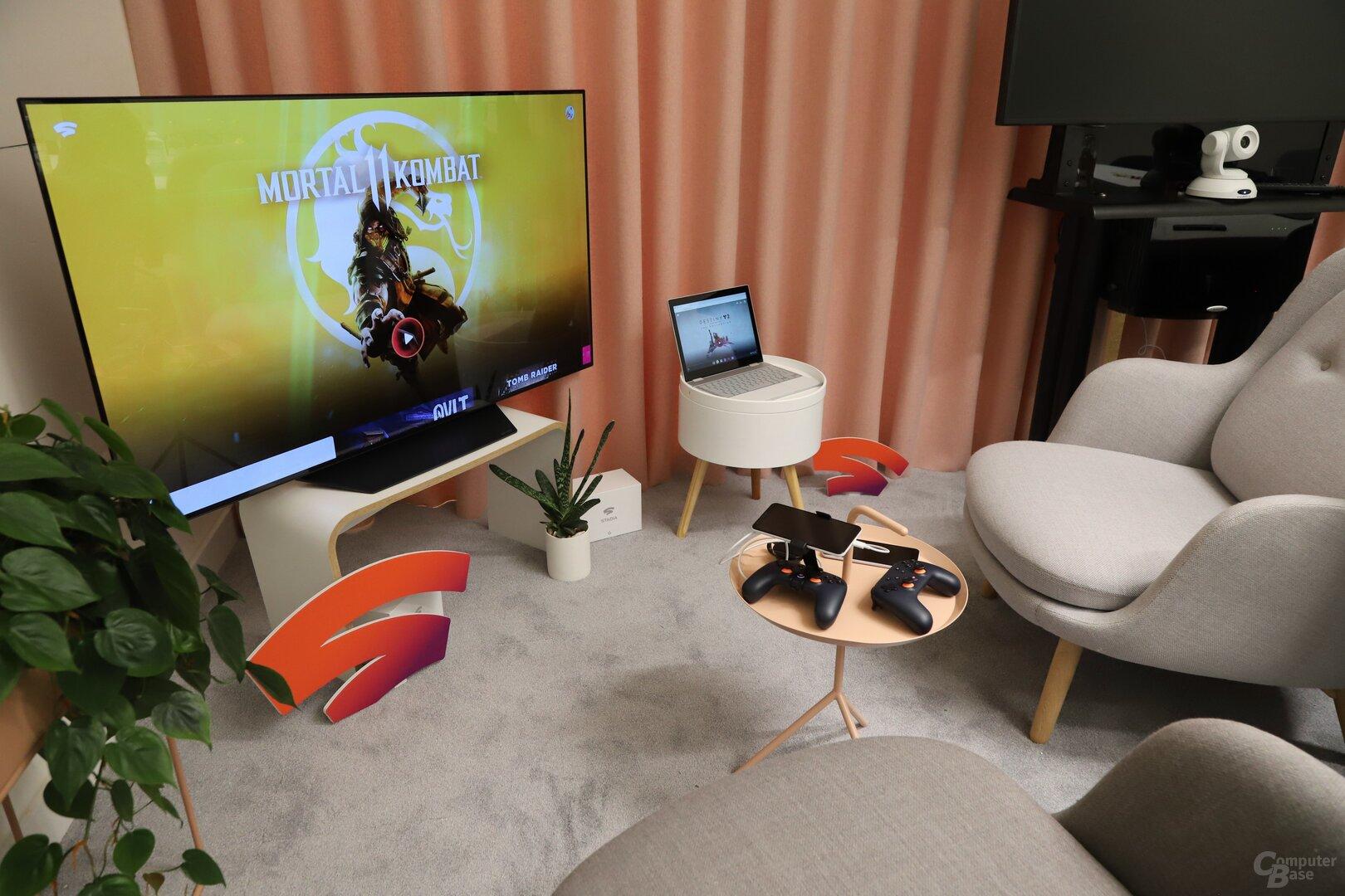 Einmal Google Stadia ausprobieren auf TV, Chromebook und Pixel 3a