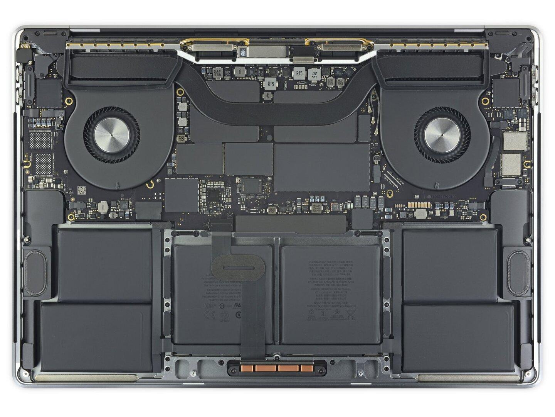 Innenaufbau des MacBook Pro 16 Zoll