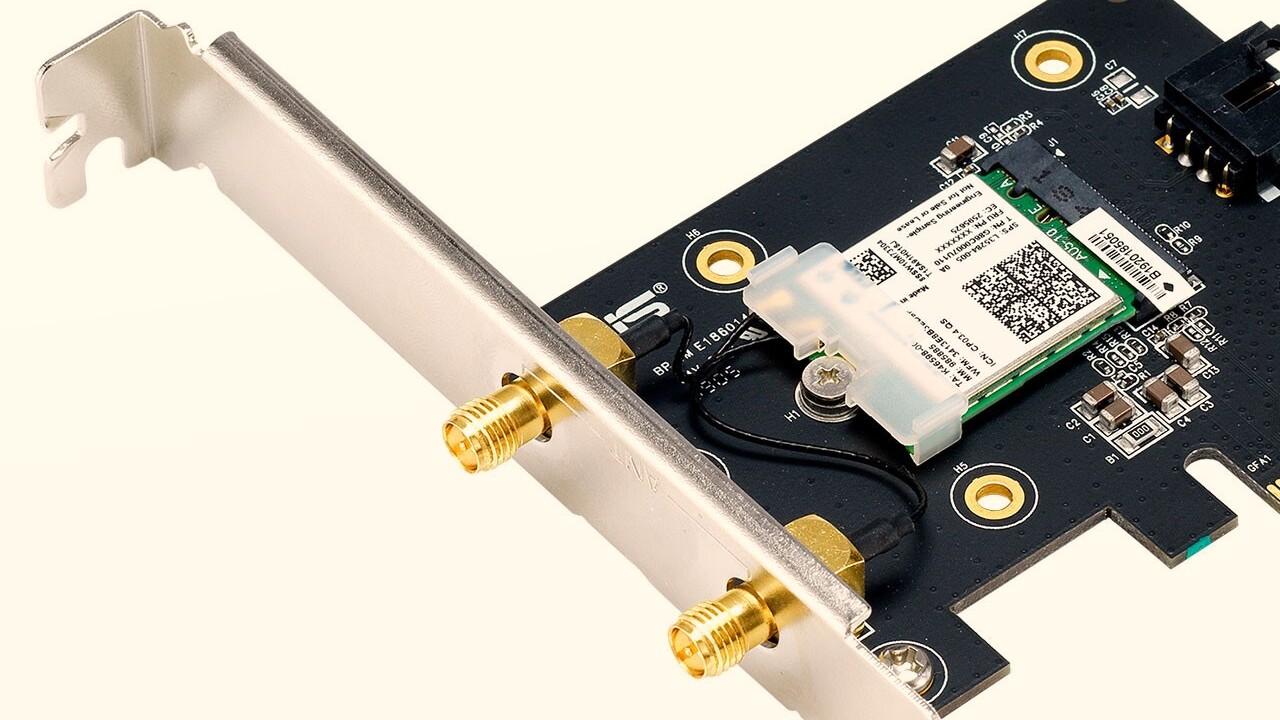 Wi-Fi-6-Karte für Desktop-PCs: Asus PCE-AX3000 kann 2 × 2 MU-MIMO bis 3 Gbit/s