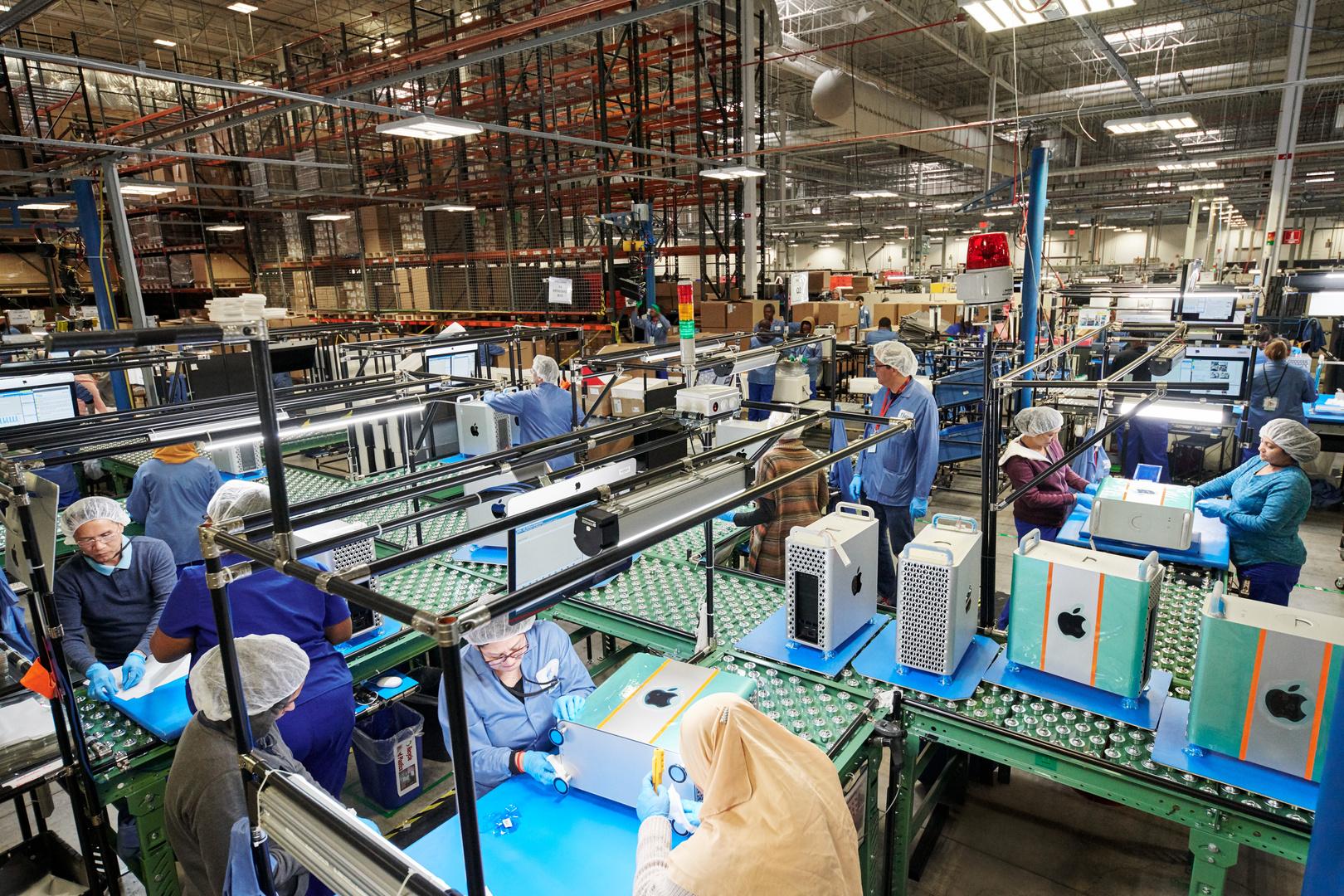 Aktuell montieren rund 500 Mitarbeiter den neuen Mac Pro in Austin, Texas