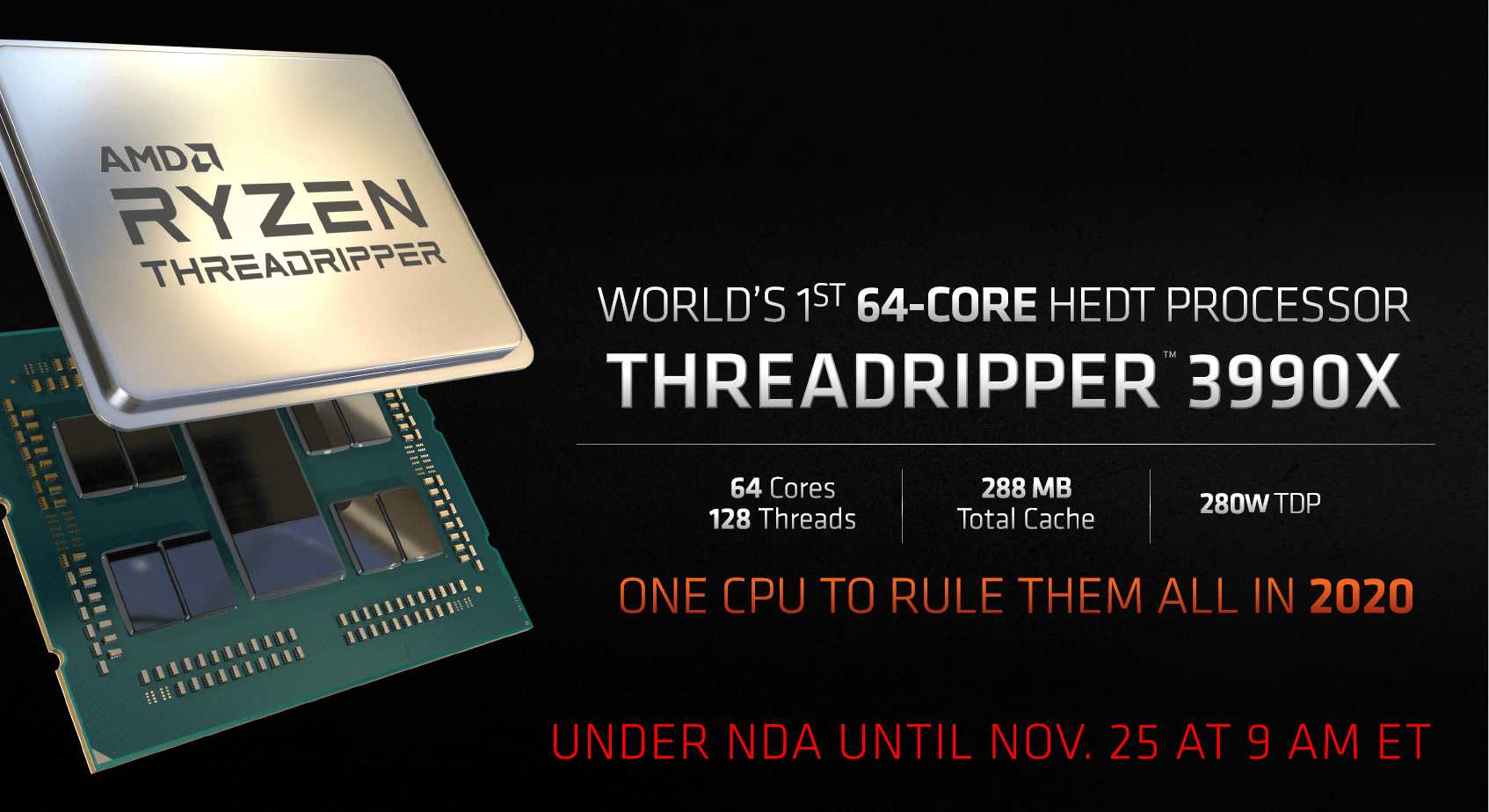 AMD Ryzen Threadripper 3990X mit 64 Kernen
