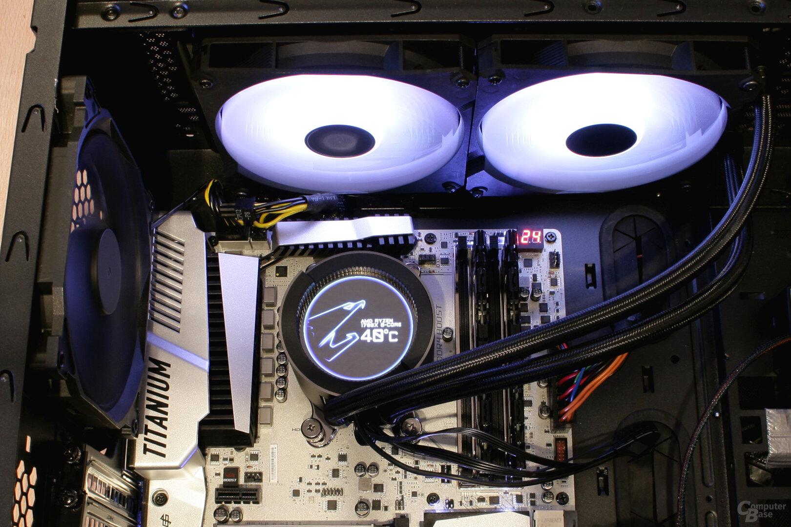 Aorus Liquid Cooler 280 im Testsystem
