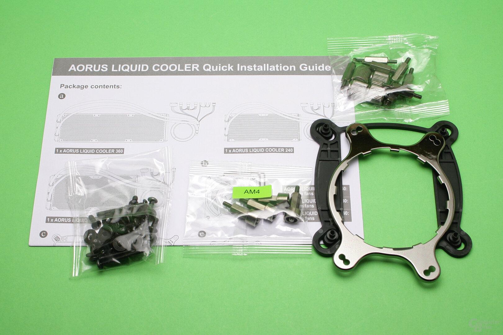 Aorus Liquid Cooler 280: Lieferumfang