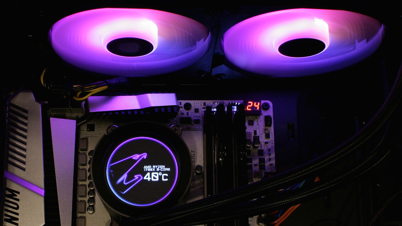 Aorus Liquid Cooler 280 im Test: Gigabytes AiO-Kühlung mit Blickfang-Display