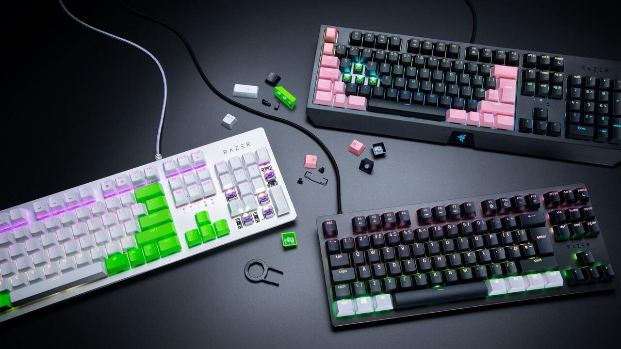 Mechanische Tastaturen: Razer stellt farbige PBT-Tastenkappen-Sets vor