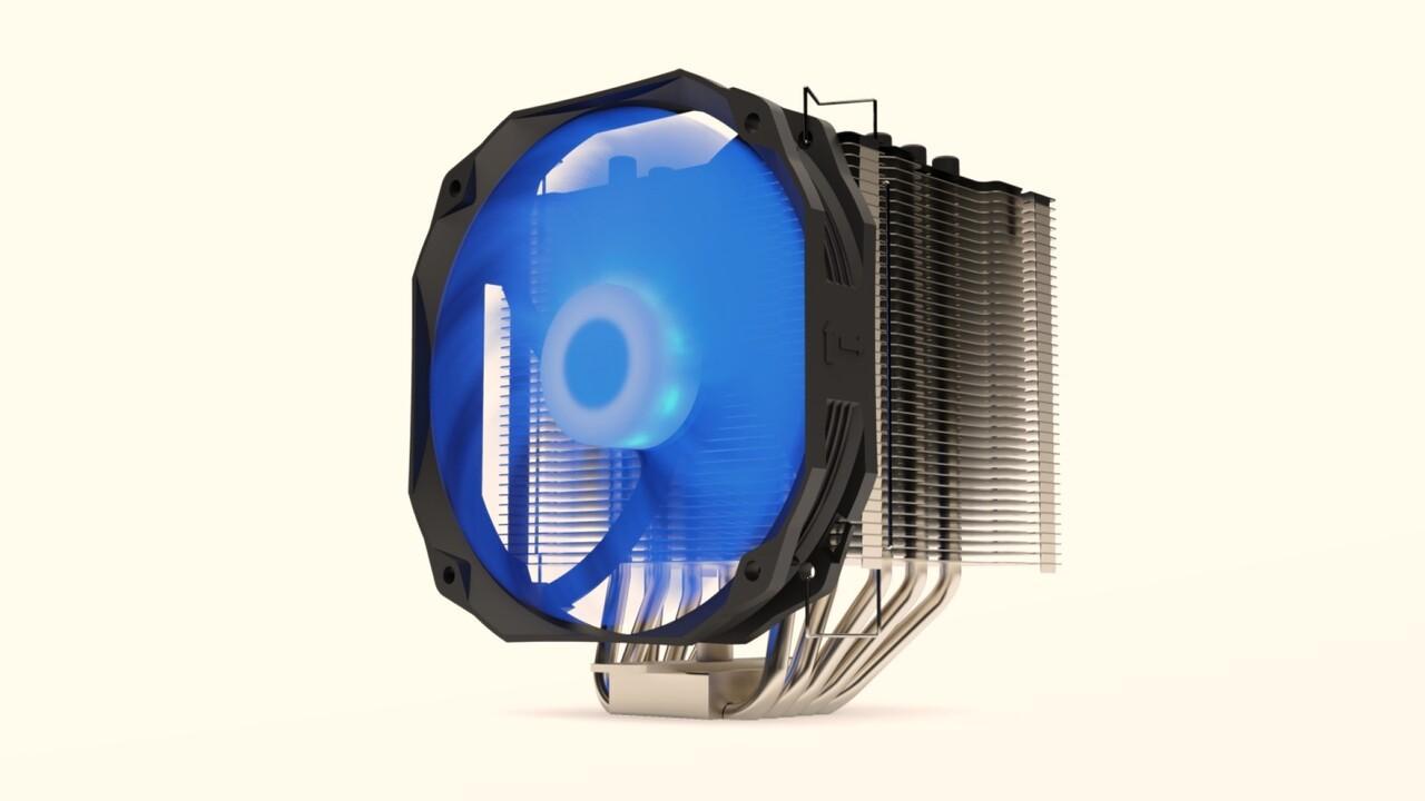 SilentiumPC Fortis 3 RGB: 9 LEDs des 140-mm-Lüfters beleuchten den Tower