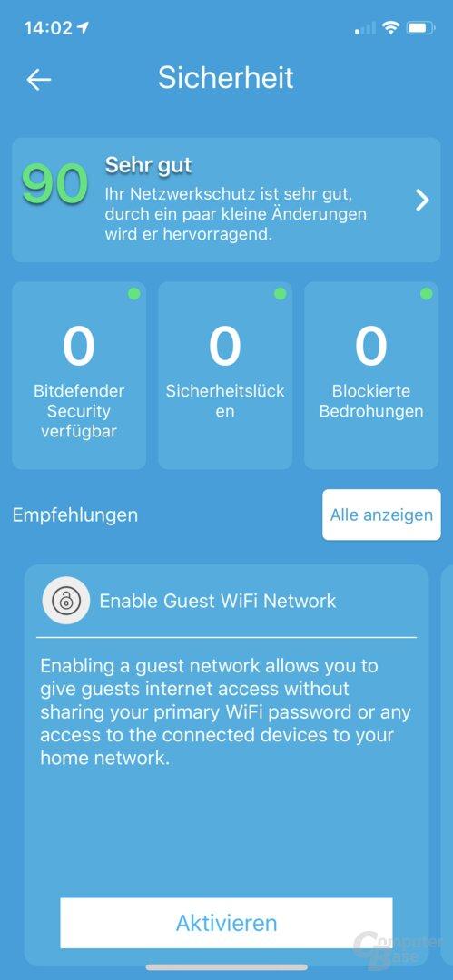 Ersteinrichtung in der Netgear Orbi-App
