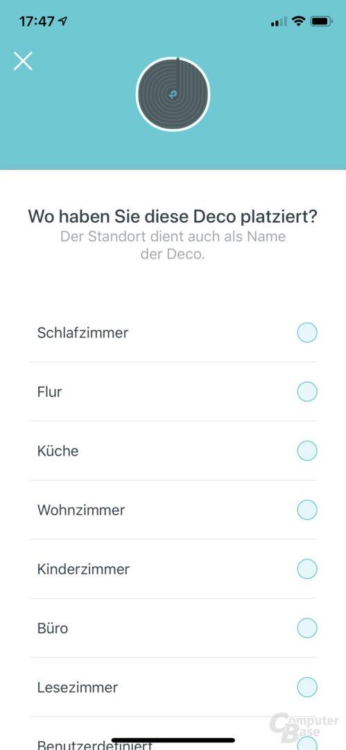 Ersteinrichtung in der TP-Link Deco-App