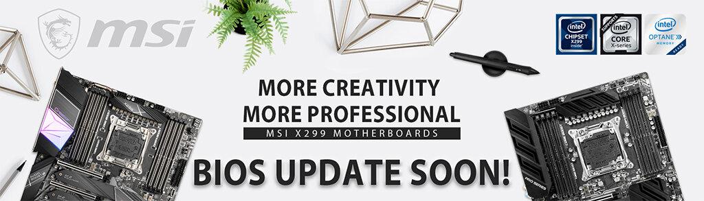 MSI X299-Mainboards erhalten neues BIOS für Cascade Lake-X