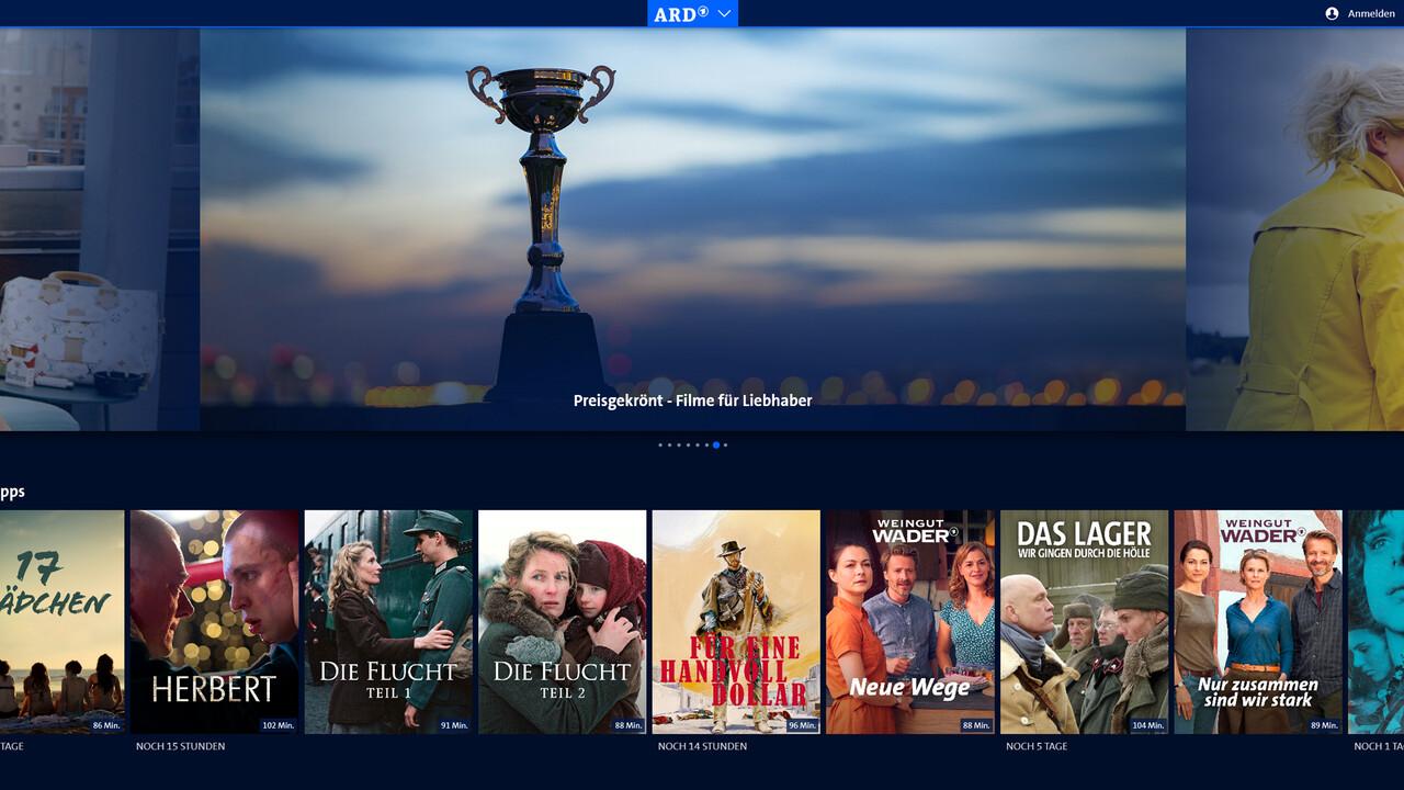 Das Erste: ARD-Mediathek wird zum Streaming-Dienst ausgebaut