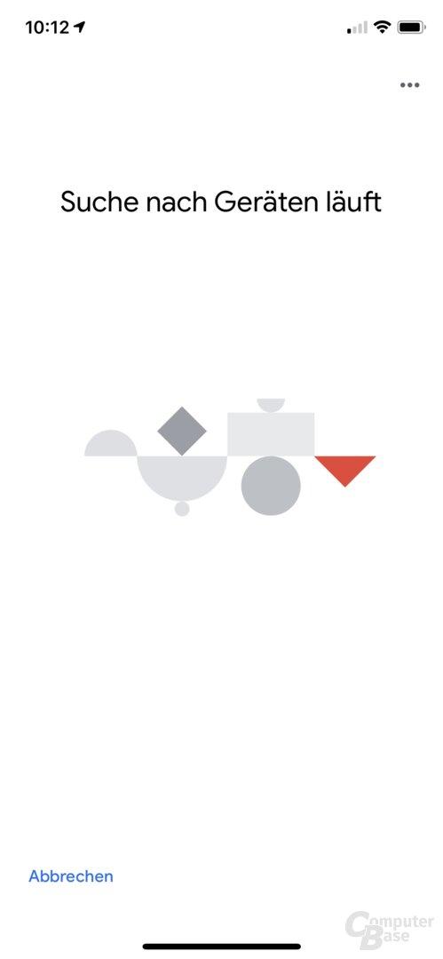 Einrichtung des Google Nest WiFi über die Home-App