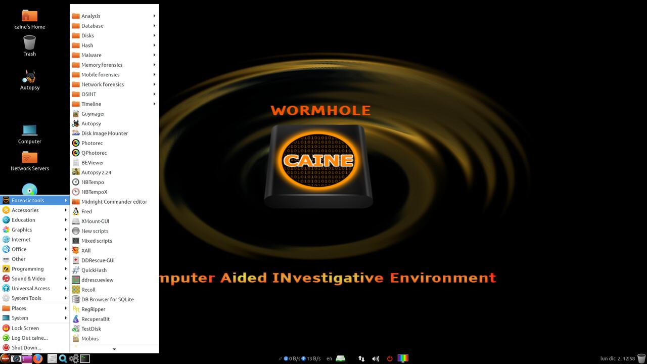 Caine GNU/Linux 11.0: Linux auf Ubuntu-Basis für forensische Aufgaben