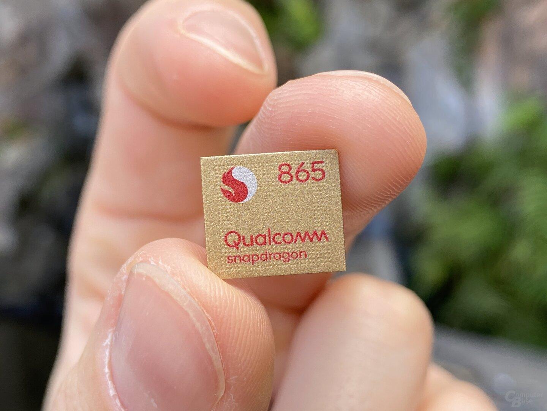Snapdragon 865 (ist in Serie nicht gold)
