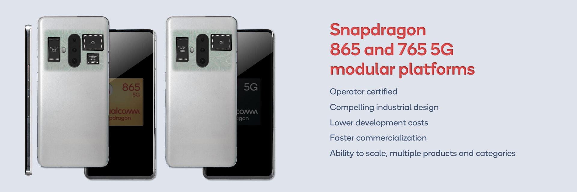 Modular Ansatz mit MSM und RF-Modul beim SD765, SD865 zusätzlich mit Modem