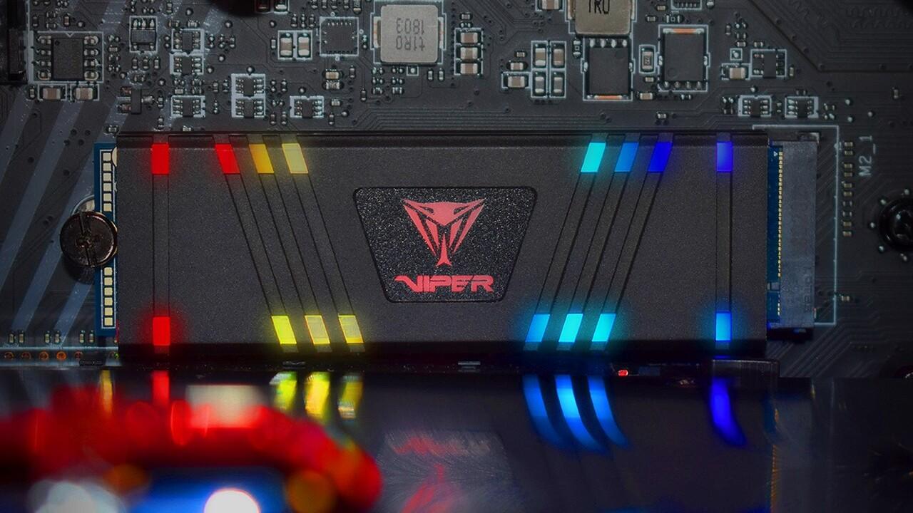 Patriot Viper VPR100: RGB-Sync bei der SSD kann bis 30 Prozent Leistung kosten