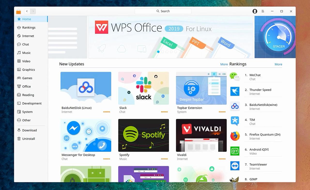 Über den AppStore lassen sich bekannte Anwendungen schnell nachinstallieren