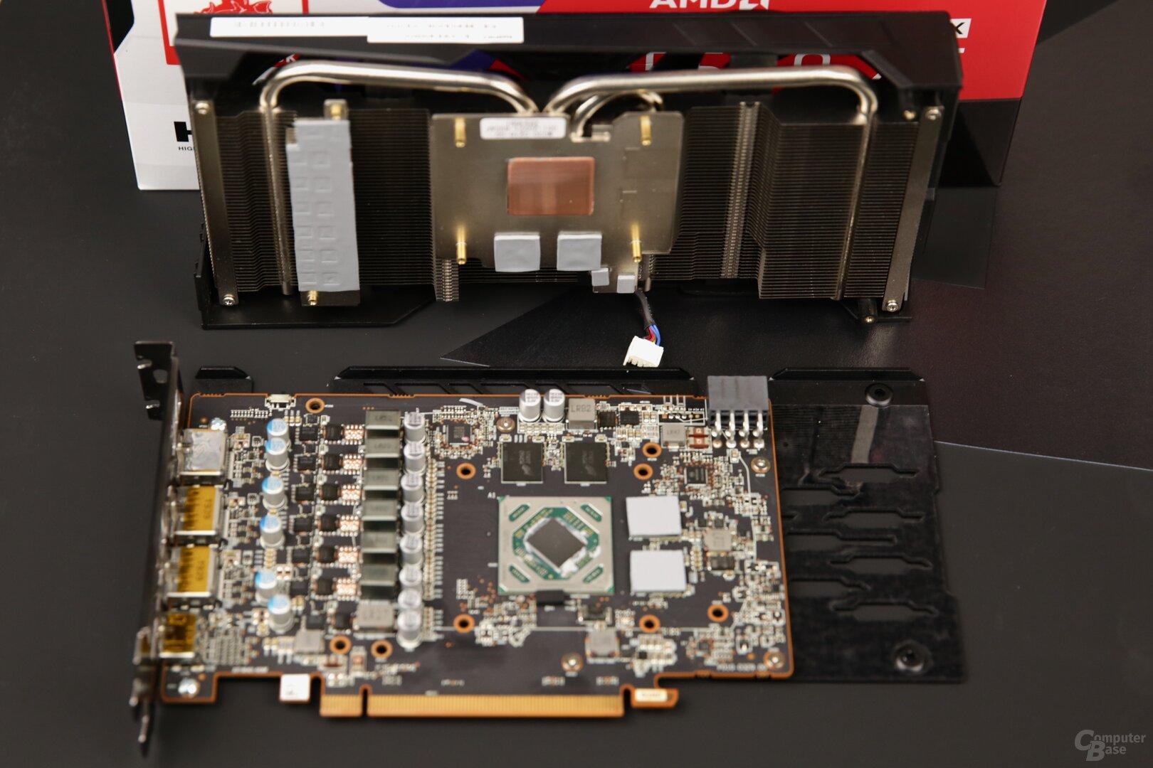 PCB und Kühlsystem der Pulse von Sapphire
