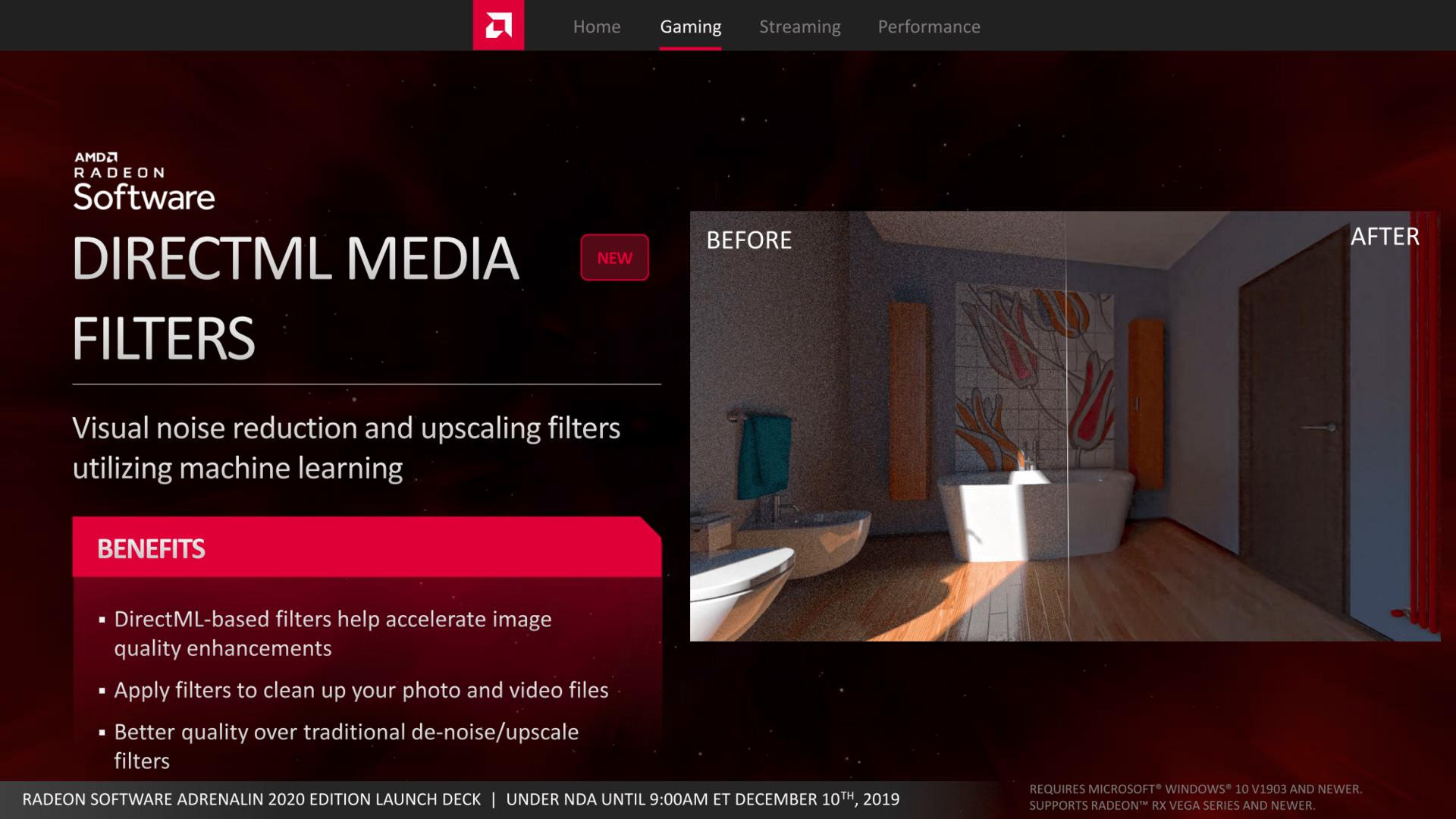 DirectML Media Filter