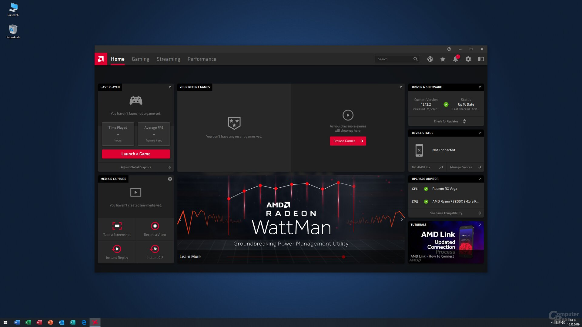 Home Screen Desktop