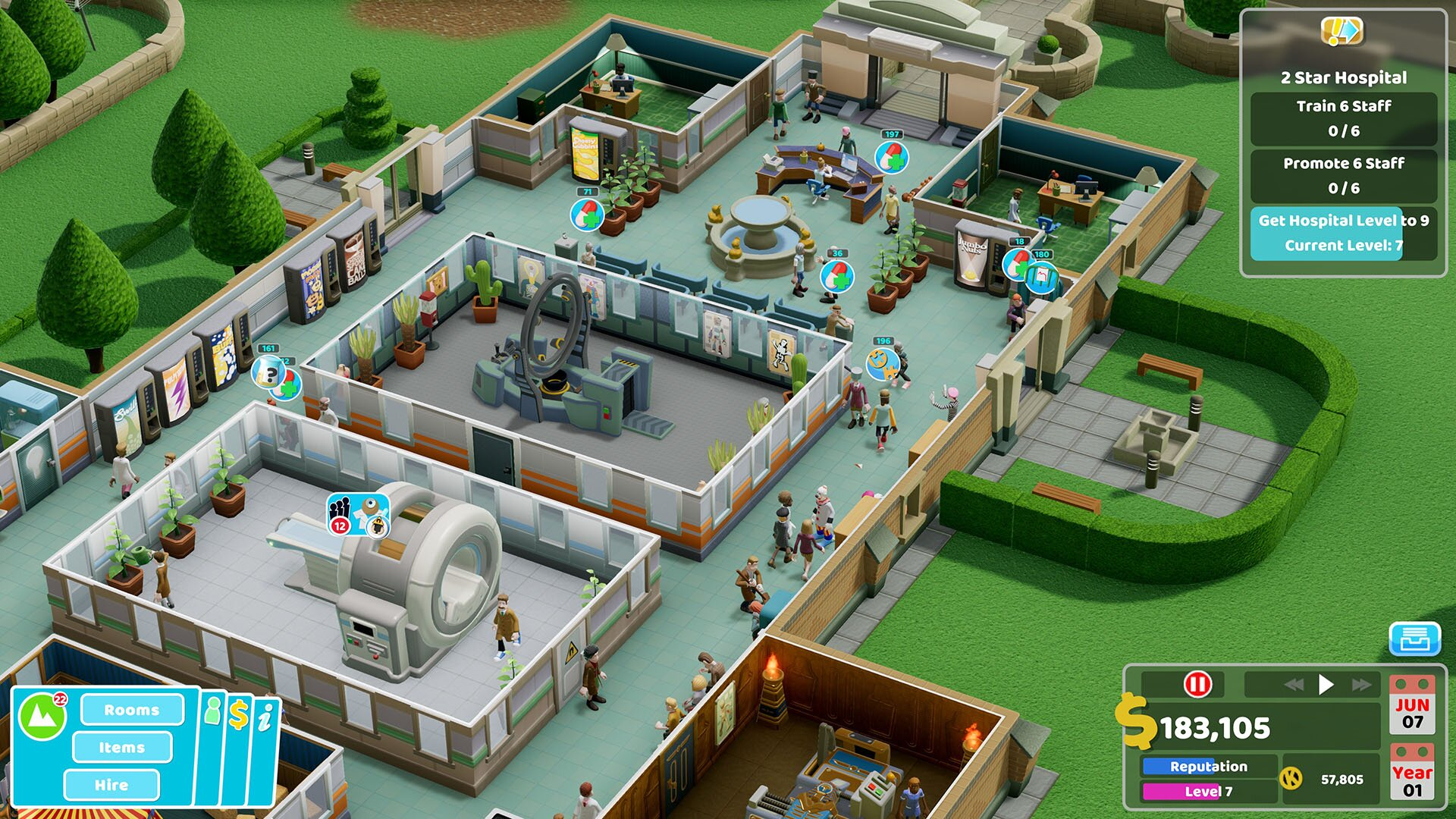 Two Point Hospital auf der Xbox One