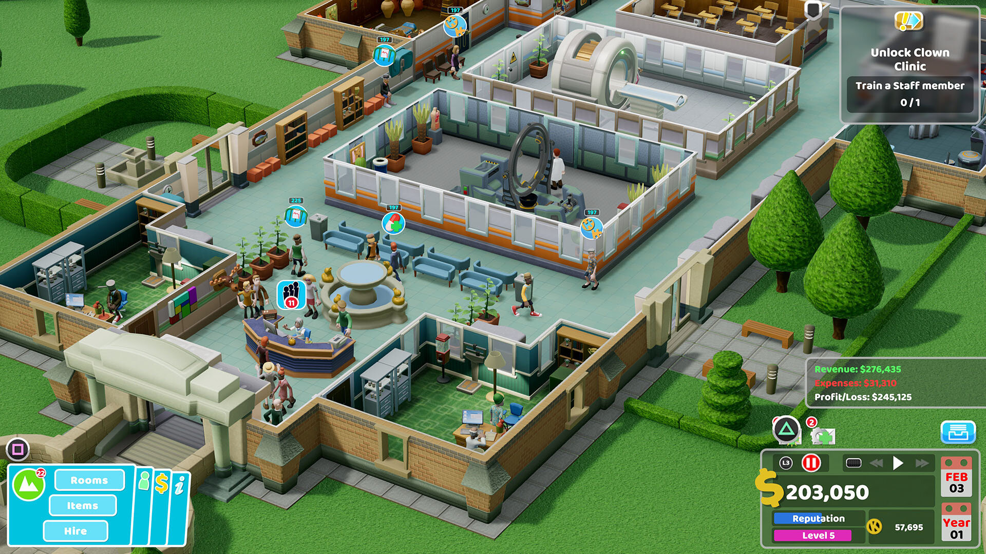 Two Point Hospital auf der PS4