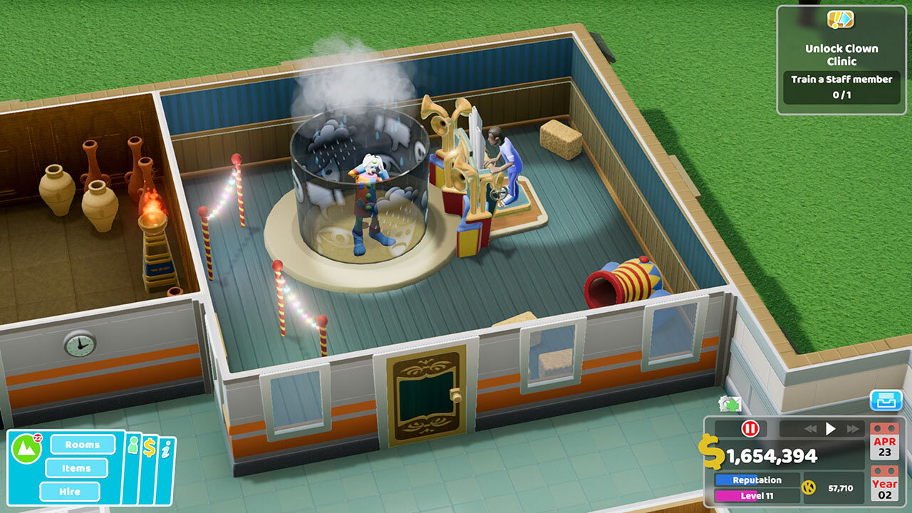 Two Point Hospital auf der Switch
