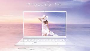 MSI Prestige 14 & 15 White: Schlanke Notebooks für Content Creator werden weiß