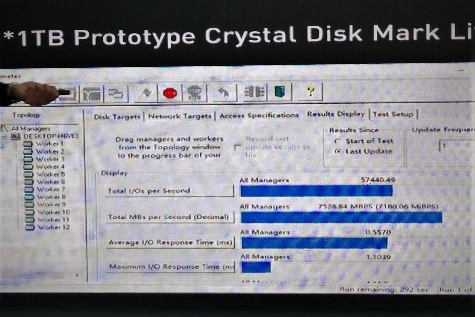 Prototyp einer Lexar-SSD mit PCIe 4.0 x4