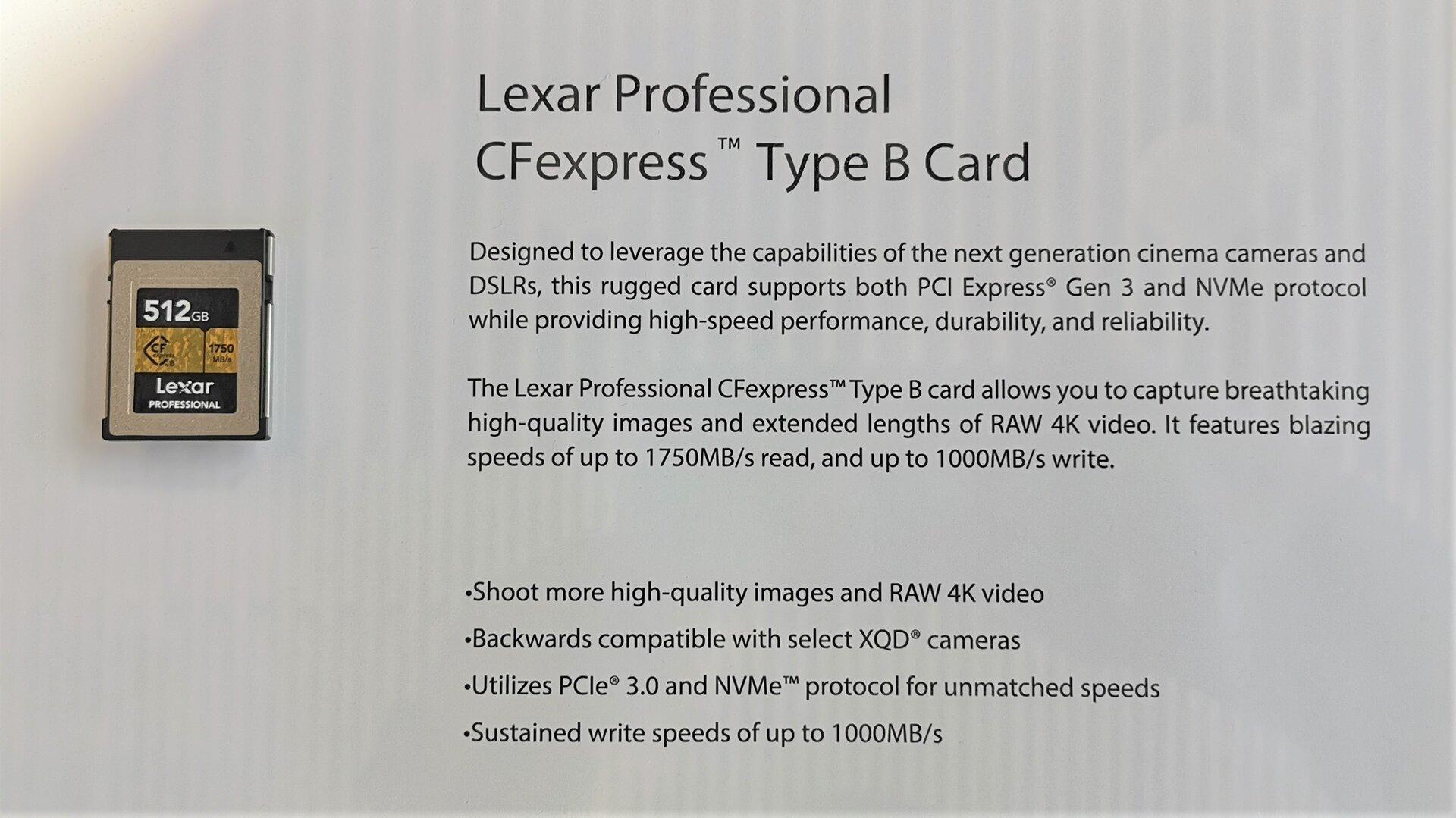 Lexar CFexpress Type B Card