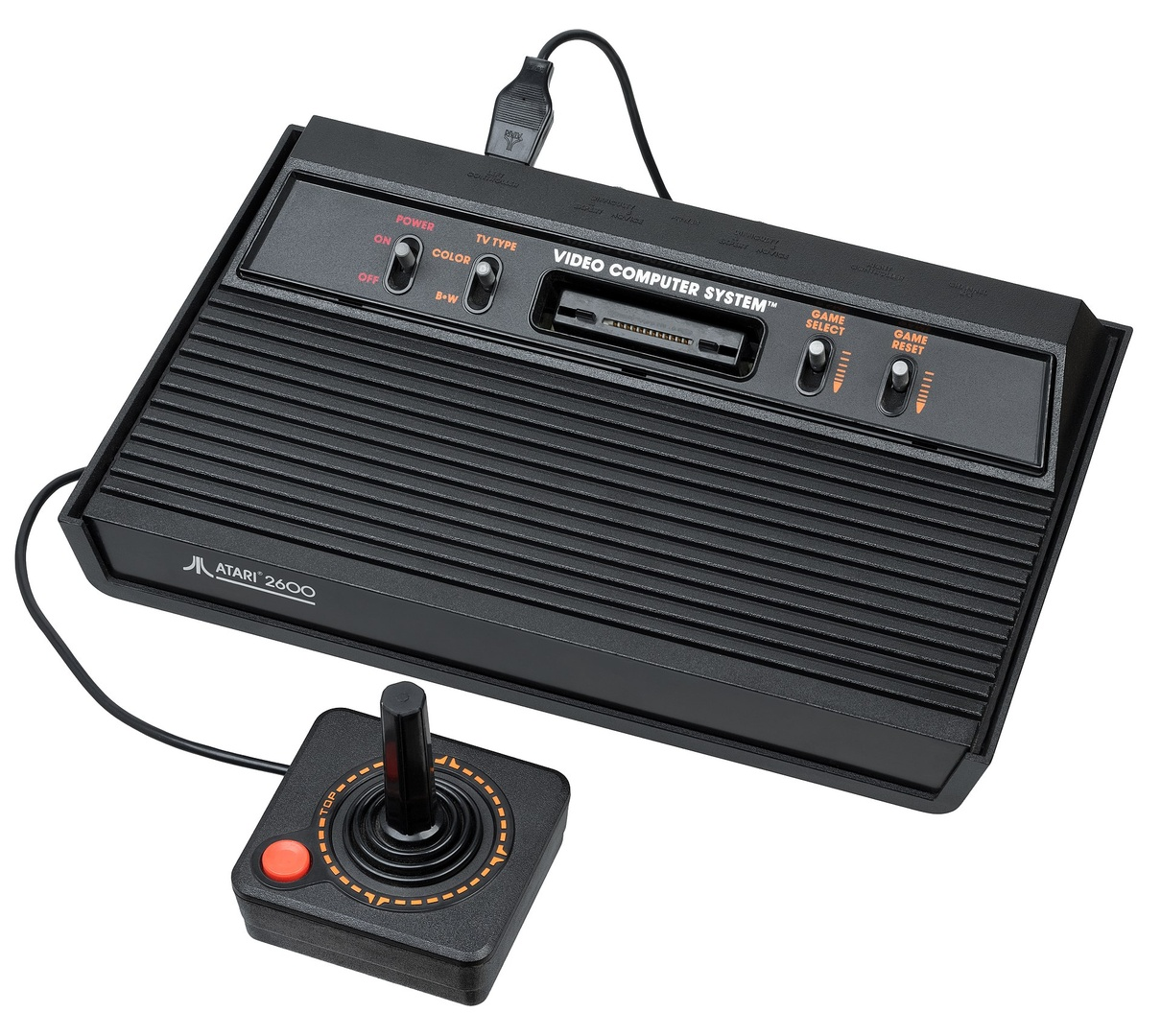 """Das bekannte """"Darth-Vader""""-Modell von 1982 unter dem neuen Namen """"Atari 2600"""""""