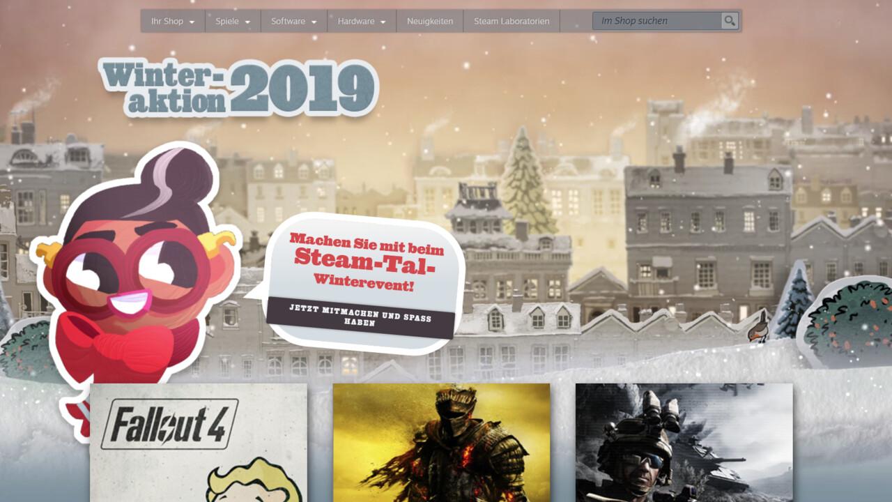 Rabatt auf Spiele: Winter Sale auf Steam gestartet