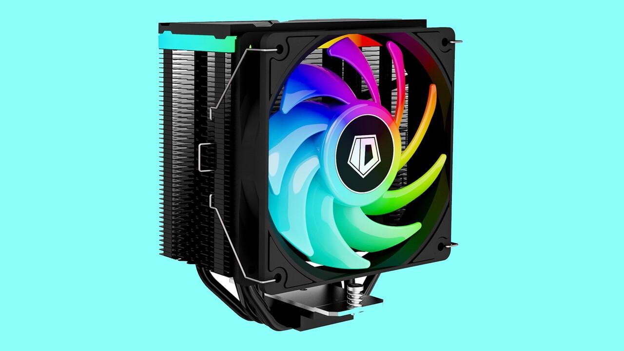 ID-Cooling SE-234-ARGB: Schwarzer CPU-Kühler wird von zwei Seiten beleuchtet