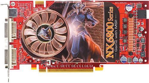 MSI NX6800GT-T2D256 mit GeForce 6800 GT PCI Express