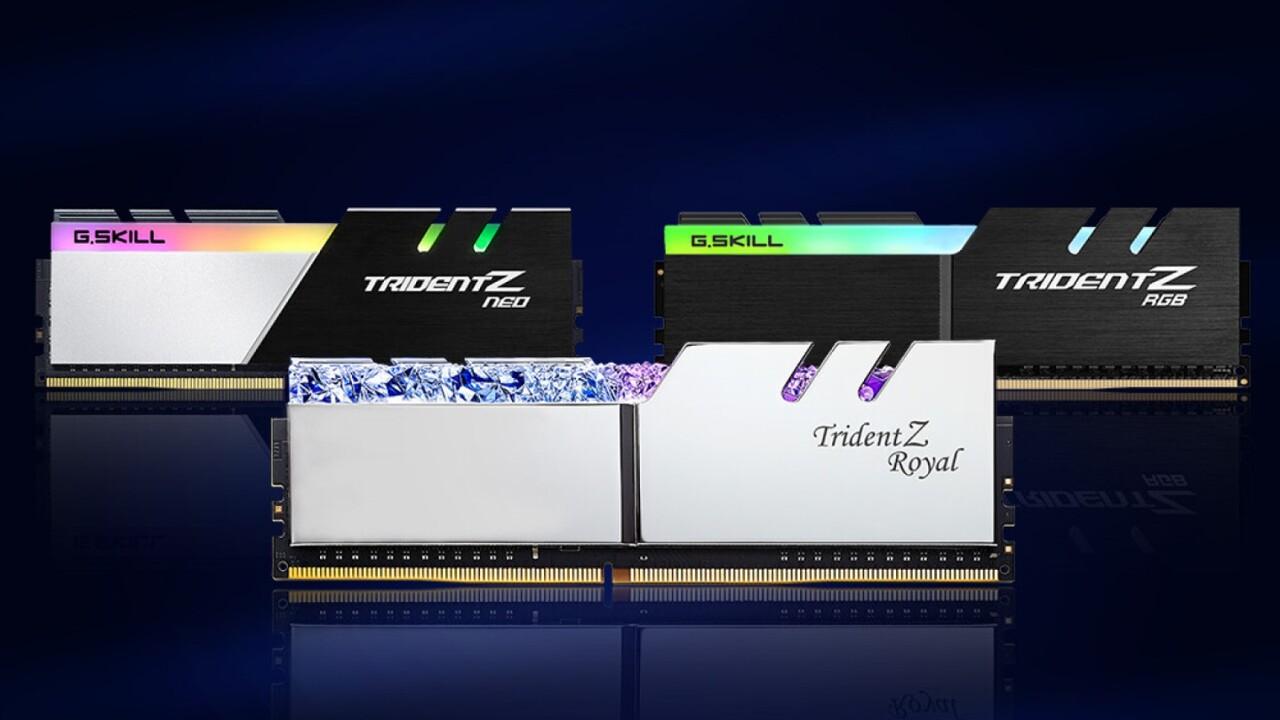 G.Skill Trident Z: Low-Latency-Kits mit 32 GB DIMMs bei 3.200 MHz und CL14
