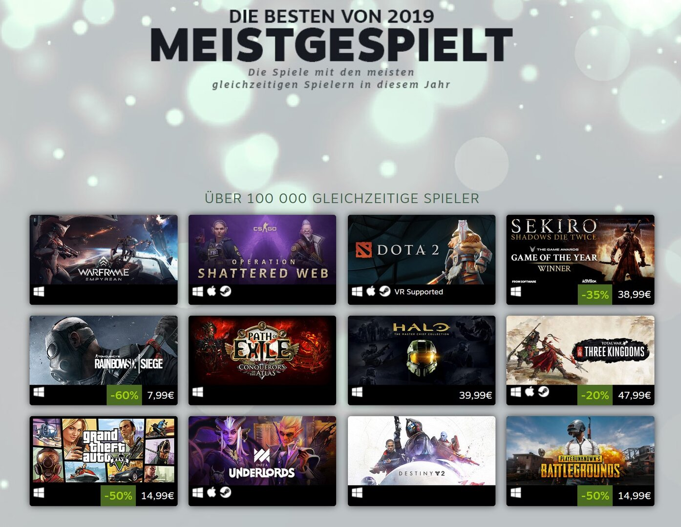 Steam Meistgespielt