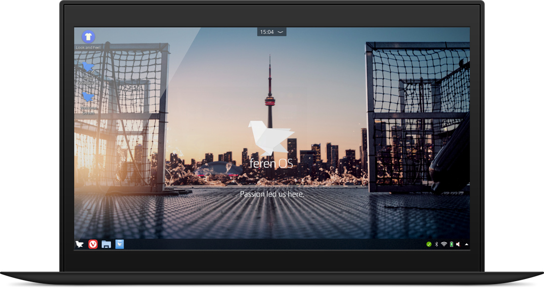 ... und feren OS mit KDE Plasma Desktop