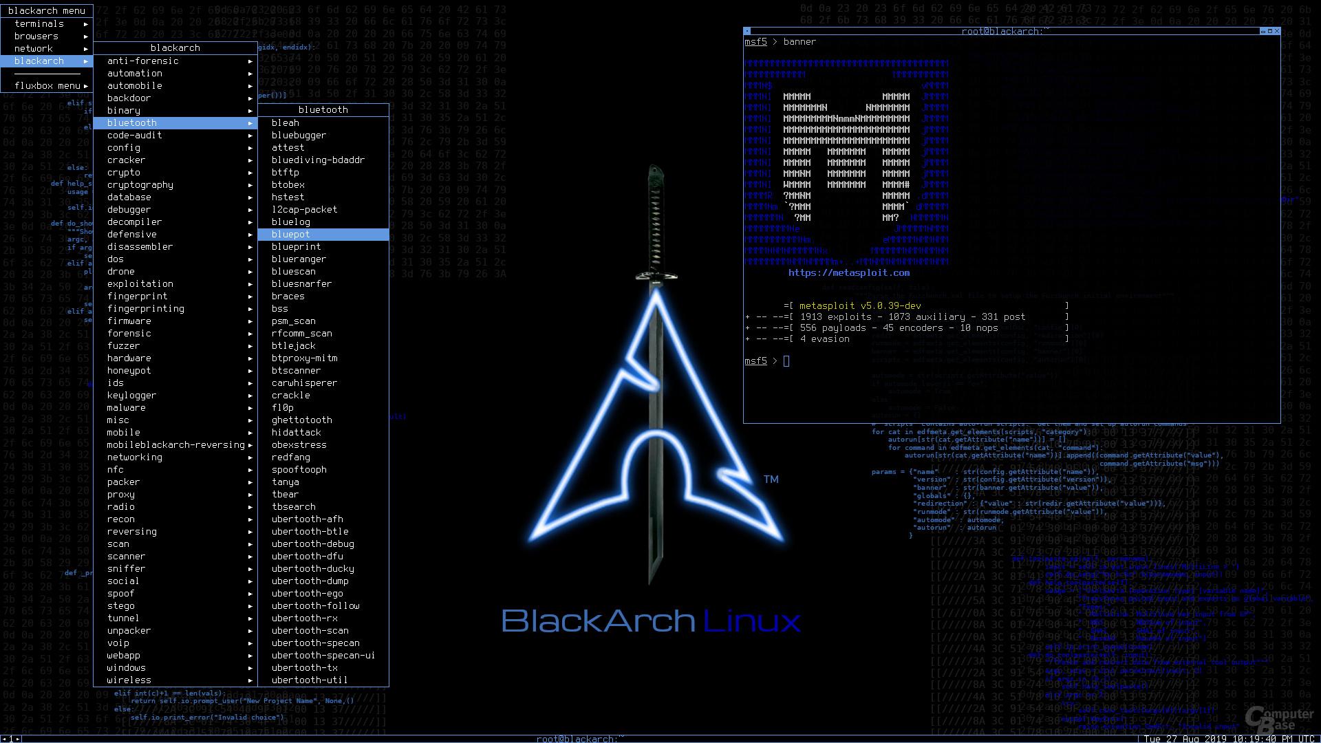 BlackArch Linux mit Fluxbox