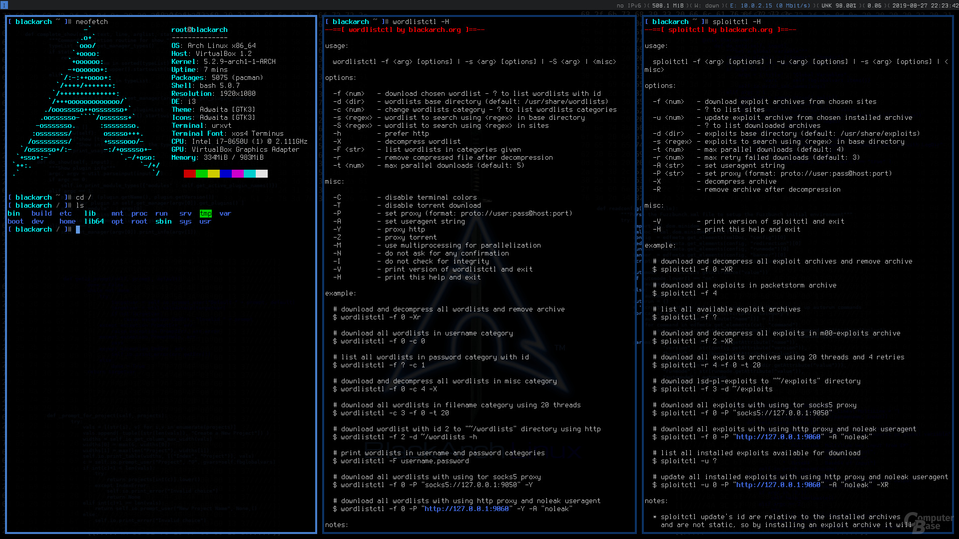 BlackArch Linux mit i3
