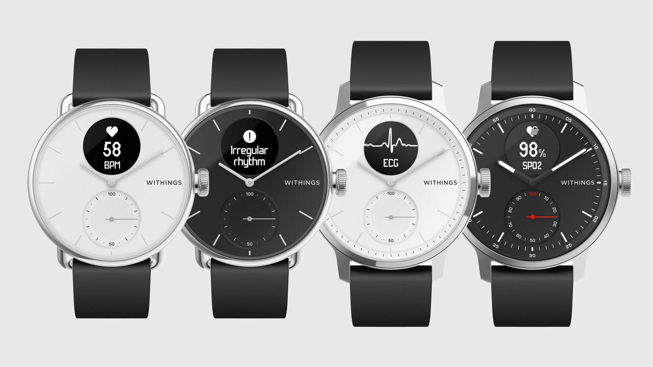 Withings ScanWatch: Hybride Smartwatch mit EKG- und Sp02-Sensor