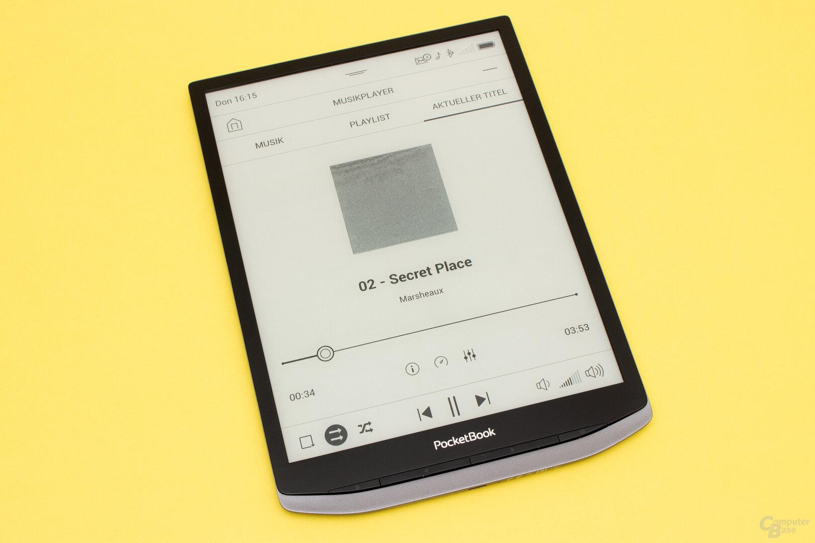 Der Audio-Player des InkPad X