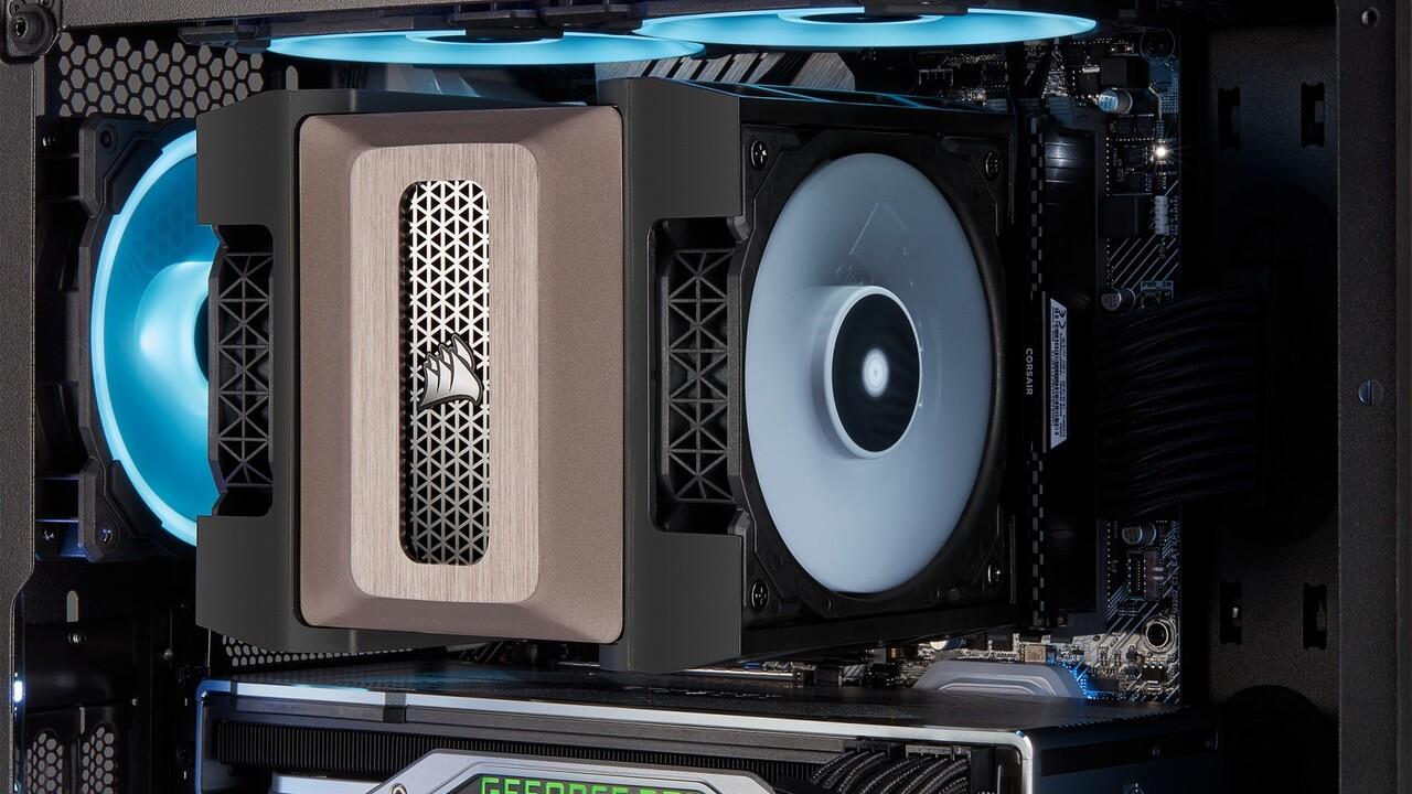 Corsair A500: Großer CPU-Luftkühler für 250 Watt geht RAM aus dem Weg