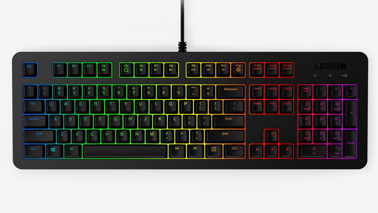Lenovo Legion 300: Rubberdome-Tastatur hat hohes Key-Rollover
