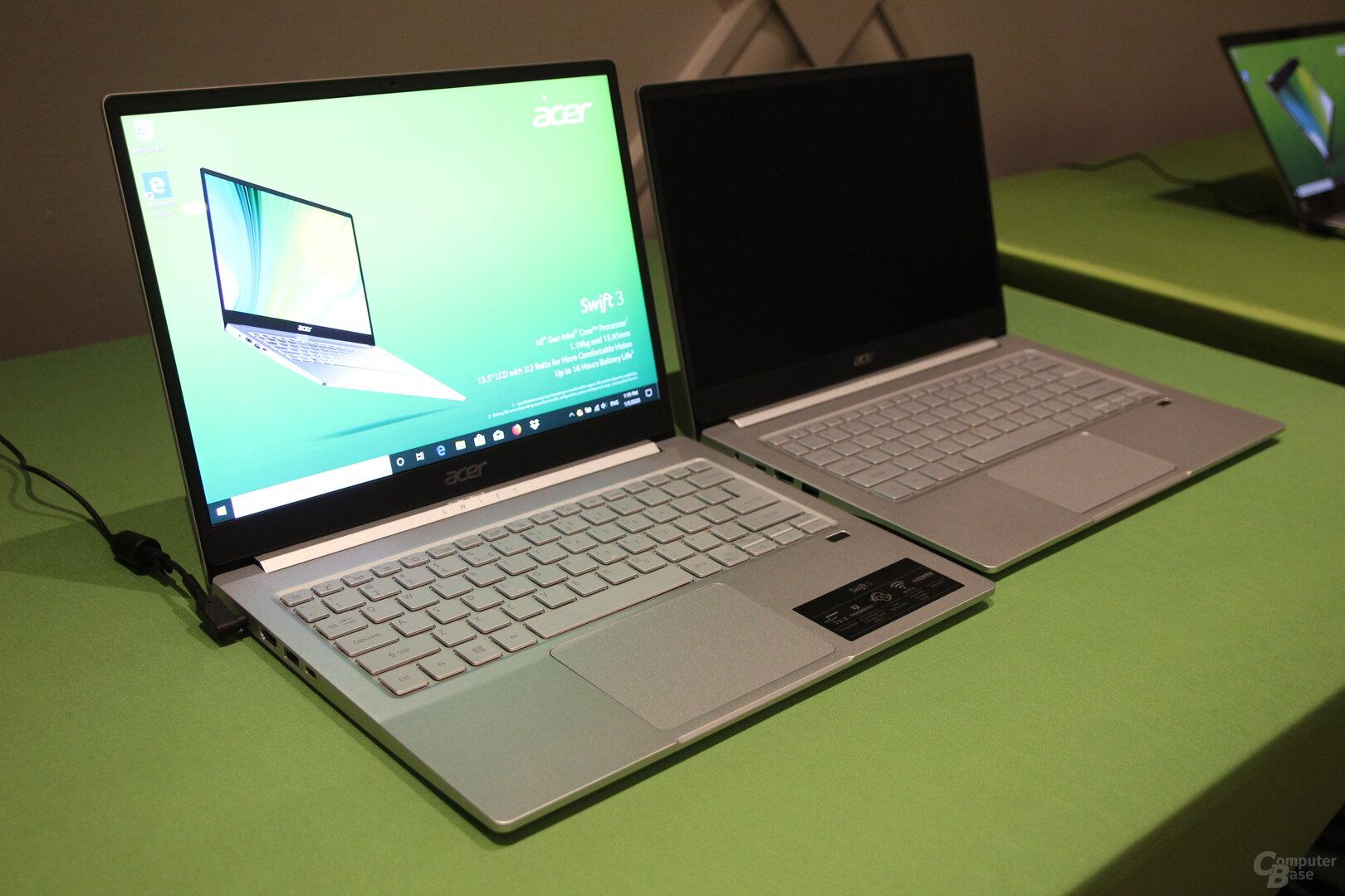 Acer Swift 3 – aufgrund von NDA-Bestimmungen blieb das AMD-Modell aus