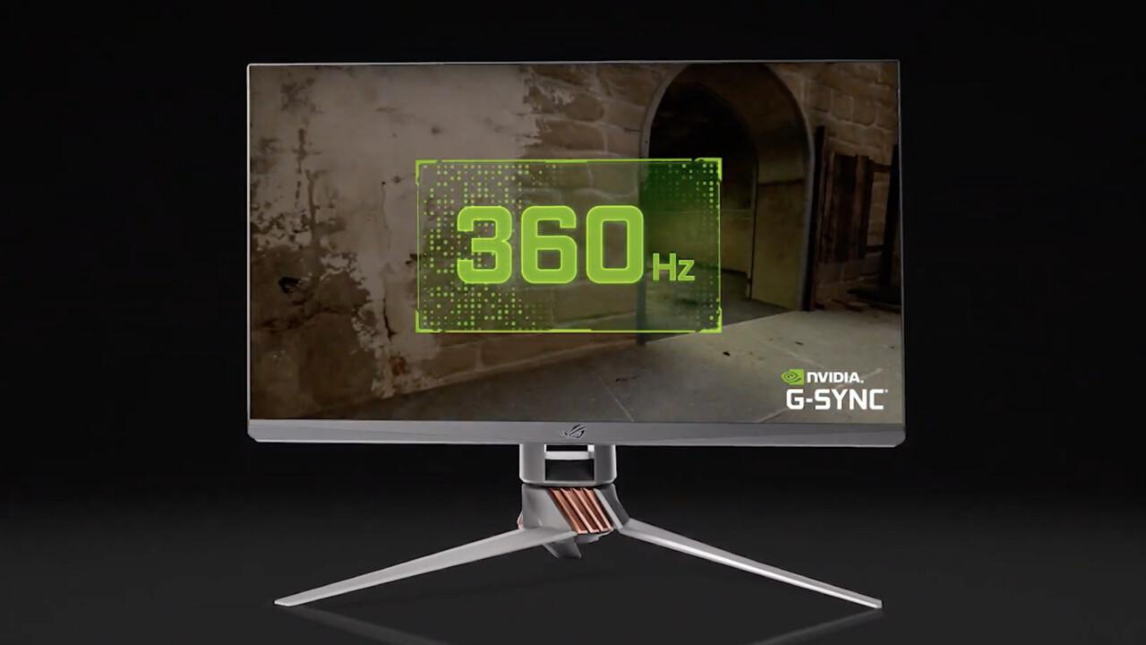 Asus ROG Swift 360Hz: Nvidia zeigt ersten Monitor mit G-Sync und 360Hz