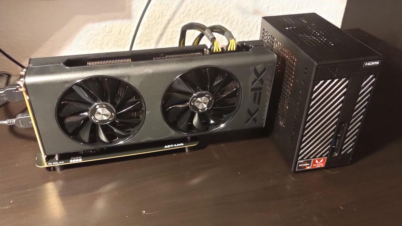 Aus der Community: Mini-STX mit AMD Radeon RX 5700 eGPU im Test