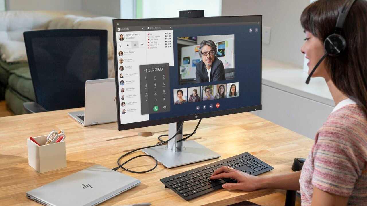 HP E27d G4 und E24d G4: Office-Monitore mit USB-C-Docking samt Netzwerk