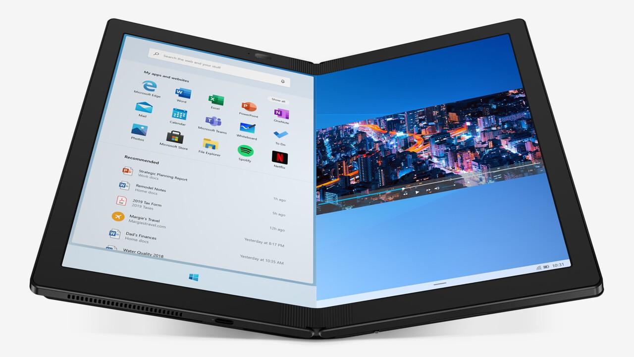 ThinkPad X1 Fold: Lenovos faltbarer PC startet im Sommer für 2.500US-Dollar