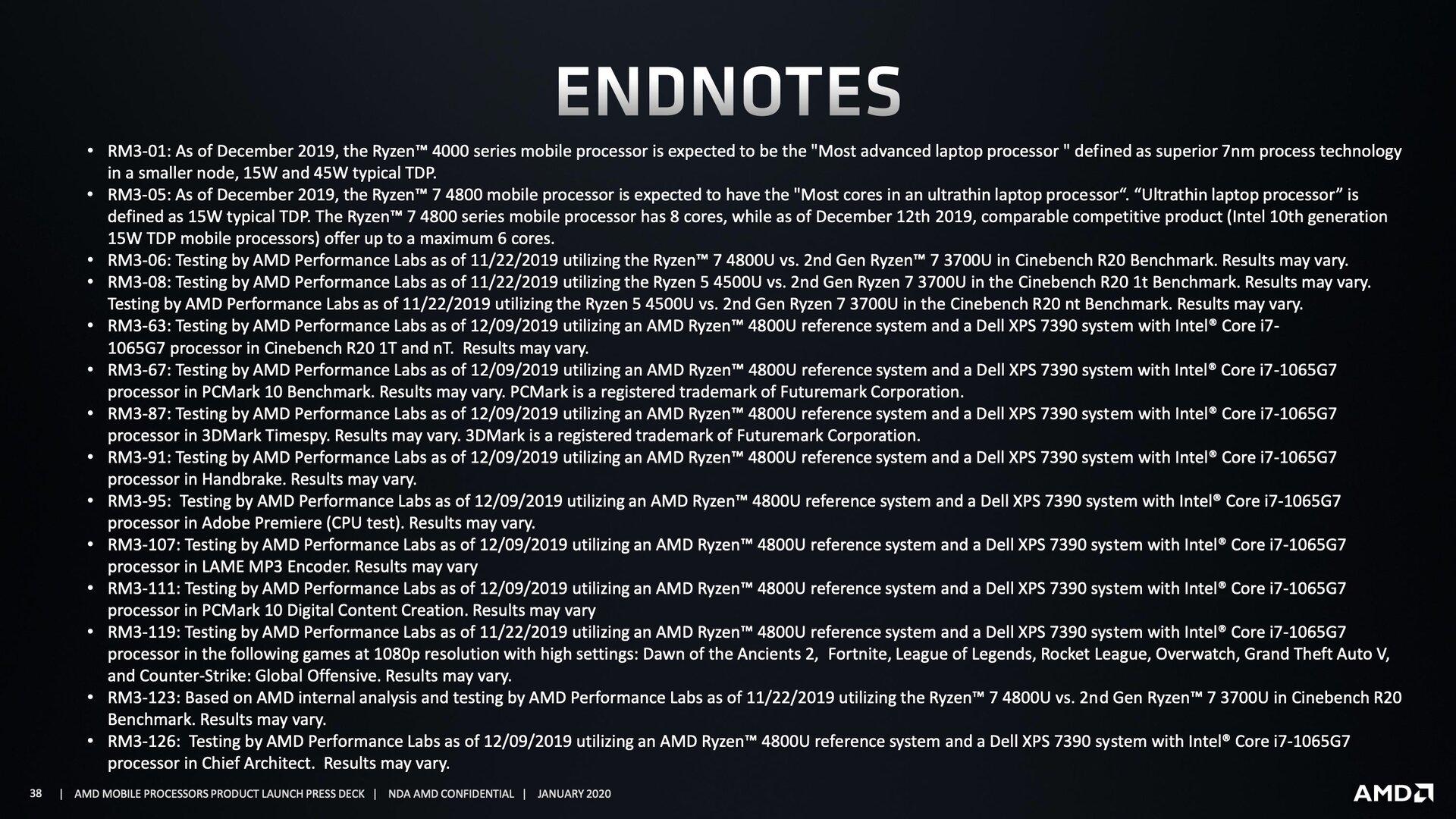 Fußnoten zu den Threadripper-3990X-Benchmarks