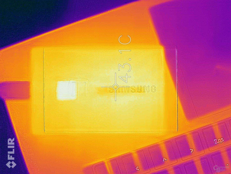 Laut Flir wird die T7 Touch maximal 43 Grad warm