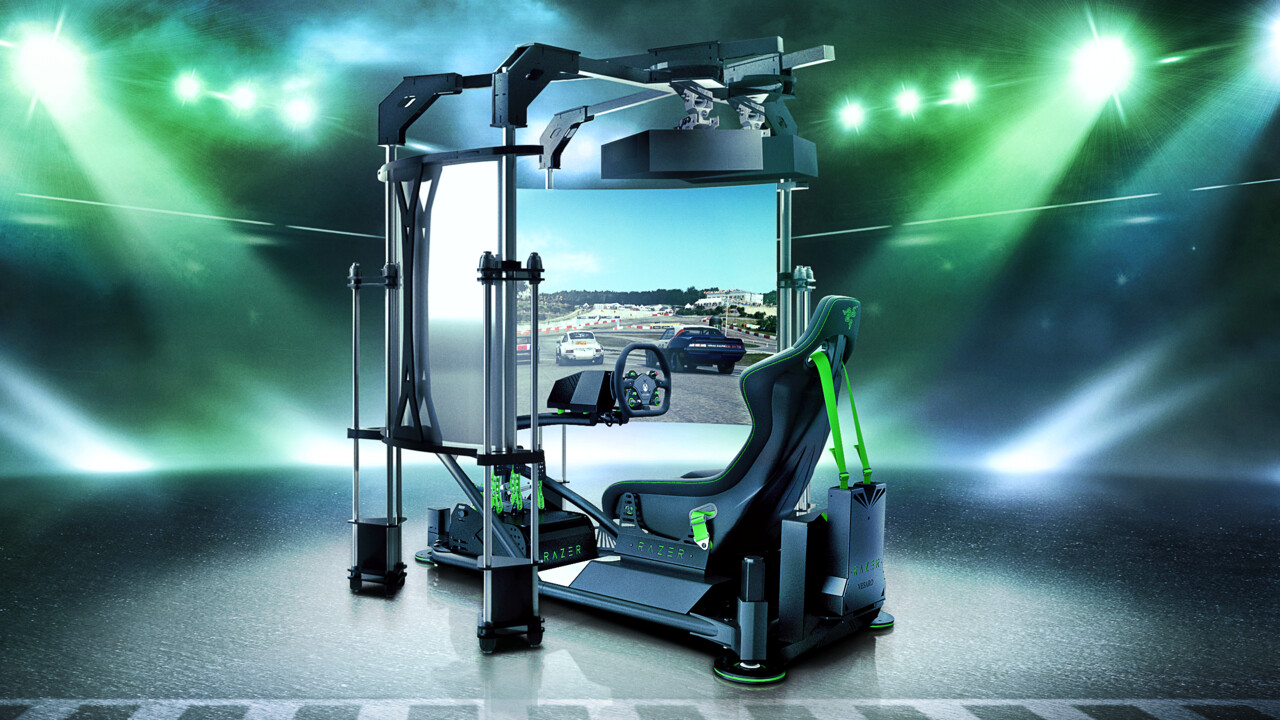 Razer Eracing Simulator: Gaming-Thron-Konzept mit Beamern statt Displays